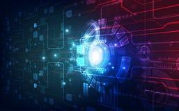 Vector a alta velocidade futurista abstrata, cor alta do azul da tecnologia digital da ilustração ilustração do vetor