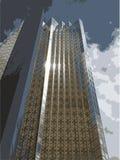 Vector alto de la torre de la oficina corporativa Imágenes de archivo libres de regalías