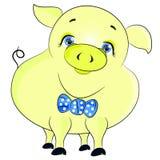 Vector amarillo del cerdo Imagen de archivo