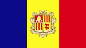 Vector of amazing Andorra flag. Nationals flags of world country vector illustration
