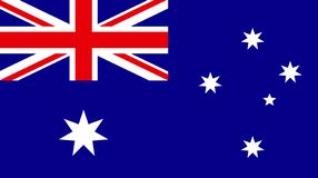 Vector of amazing Australia flag. Nationals flags of world count vector illustration