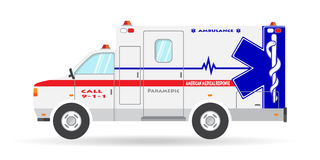 Vector ambulance vehicle illustration paramedic car emergency auto icon Royalty Free Stock Images
