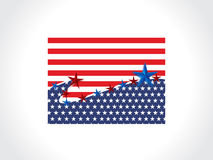 Vector America Flag Royalty Free Stock Photos