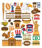 Vector america icons set Royalty Free Stock Images