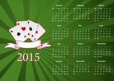Vector American Calendar 2015 With Cards Stock Photos