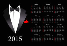 Vector American calendar 2015 with elegant suit Royalty Free Stock Photos