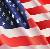 Vector American flag Stock Photography