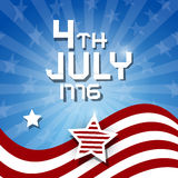 Vector American Flag Background. 4th July 1776 heme Stock Photography
