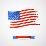 Vector American Flag - Dirty, Grunge Royalty Free Stock Images