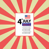 Vector american flag Royalty Free Stock Photography