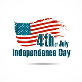 Vector american flag independence day Stock Image