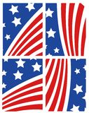 Vector American Flag Set Stock Photography