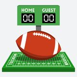 Vector american football composition. Vector american football field and ball composition Stock Photos