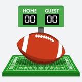 Vector american football composition Stock Photos