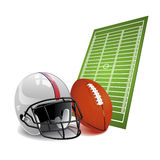 Vector American football Stock Photography