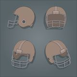 Vector American football helmet Royalty Free Stock Image