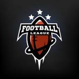 1 Vector 15. American football league logo. Vector illustration stock illustration