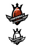 1 Vector 15. American football. Two options color and monochrome logo Stock Images