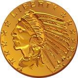 vector American gold coin dollar Stock Photo