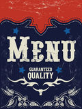 Vector american grill - steak - restaurant menu design - western style. Grunge effects can be easily removed Stock Photo