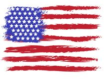 Vector American grunge flag Royalty Free Stock Image