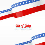 Vector american independence day background Royalty Free Stock Image