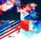 Vector american independence day flag design illustration Stock Photo
