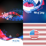 Vector american independence day flag design illustration design Royalty Free Stock Photography