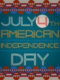 Vector american independence day retro poster Royalty Free Stock Photography