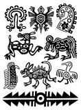 Vector American Indian traditional patterns Stock Image