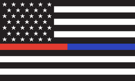 Free Vector American Police& Fire Flag Royalty Free Stock Images - 88209139