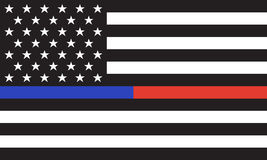 Vector American Police& Fire Flag Royalty Free Stock Images