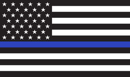 Vector American Police Flag Royalty Free Stock Photography