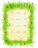Vector American spring 2011 calendar Stock Photography