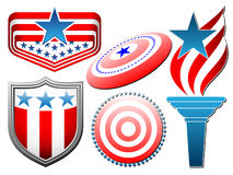 Vector american symbolics set Royalty Free Stock Images