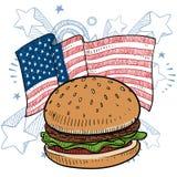 Vector americano de la hamburguesa Fotos de archivo