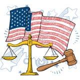 Vector americano de la justicia Fotografía de archivo libre de regalías