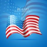 Vector Amerika vlag Stock Fotografie