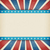 Vector Amerikaanse de dagaffiche van onafhankelijkheids 4de Juli Stock Foto's