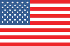 Vector Amerikaanse vlag Royalty-vrije Stock Afbeelding