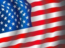 Vector Amerikaanse vlag Stock Afbeelding