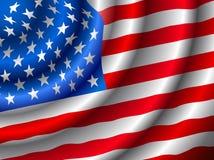 VECTOR Amerikaanse vlag die in de wind golft Stock Foto