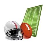 Vector Amerikaanse voetbal Stock Fotografie