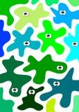 Vector amoebas Stock Images
