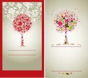Vector a amostra de projeto com a árvore das flores Fotografia de Stock Royalty Free