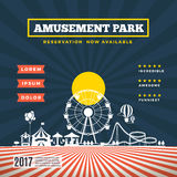 Vector amusement park theme background Stock Images