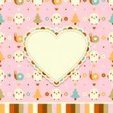 Vector amusing pink card Stock Image