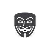 Vector anónimo del icono de la máscara, muestra plana llenada ilustración del vector
