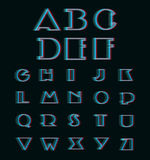 Vector Anaglyph 3D Alphabet Set Royalty Free Stock Photos