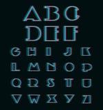 Vector Anaglyph 3D Alphabet Set. (3D Anaglyph Font Royalty Free Stock Photos